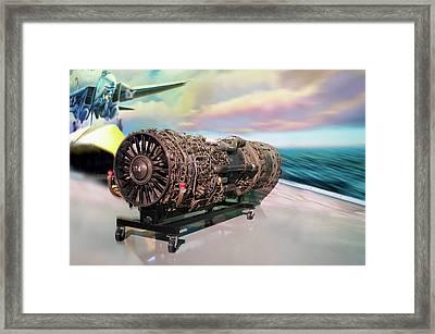 Fighter Jet Engine Framed Print