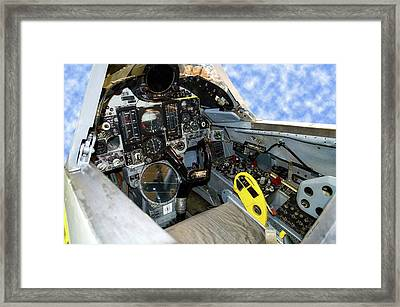Fighter Jet F106 Cockpit Trainer Framed Print