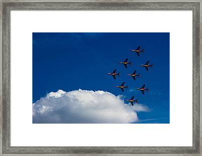 Fighter Jet Framed Print by Martin Newman