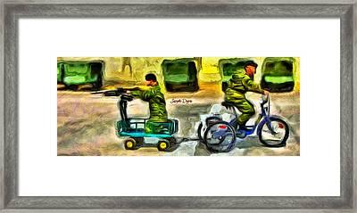 Fighters At War - Da Framed Print by Leonardo Digenio
