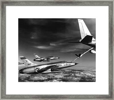Fighters Refuel Over Vietnam. Us Air Framed Print