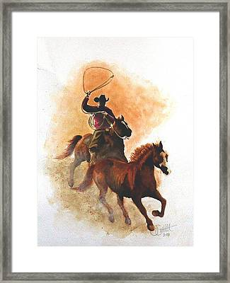 Fighting For Freedom Framed Print