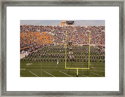 Fighting Irish Marching Band Framed Print