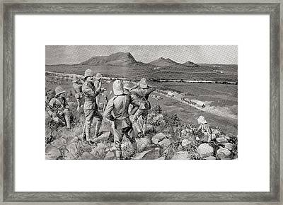 Fighting Mac And The Highland Brigade Framed Print by Vintage Design Pics