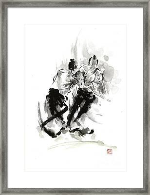 Fighting Framed Print