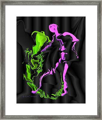 Fighting The Demon Framed Print