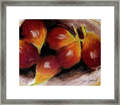 Framed Print featuring the painting Figs by Linde Townsend