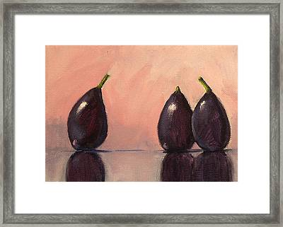 Figs Still Life Painting Framed Print by Nancy Merkle