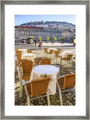 Figueira Square Lisbon Framed Print