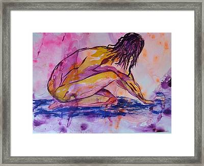 Figurative Abstract Nude 7 Framed Print