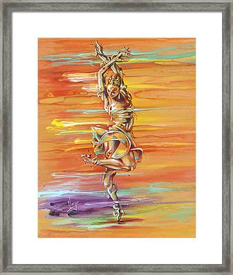 Jazz It Up Framed Print by Karina Llergo
