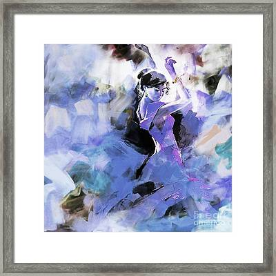 Framed Print featuring the painting Figurative Dance Art 509w by Gull G