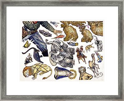 Figurative Sticker Sheet Framed Print by Karl Frey