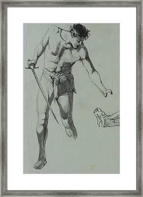 Figure Drawing 1961. Framed Print