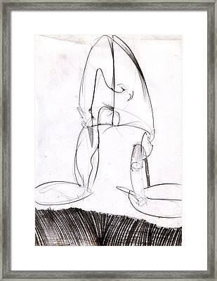 Figure Drawing 8 Framed Print by Michal Rezanka