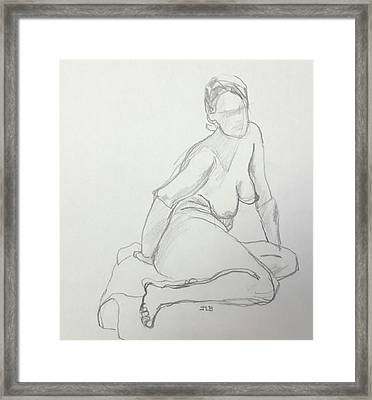 Figure Drawing Class Framed Print by Janet Butler