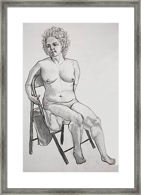 Framed Print featuring the drawing Figure Drawing by Jean Haynes