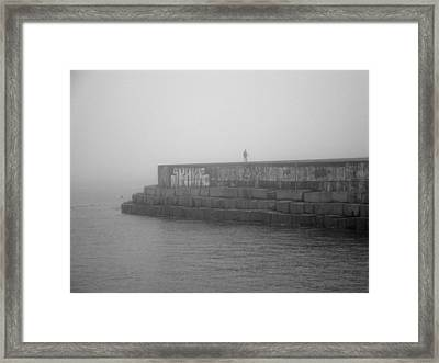 Figure In The Fog 2 Framed Print by Mark Alan Perry