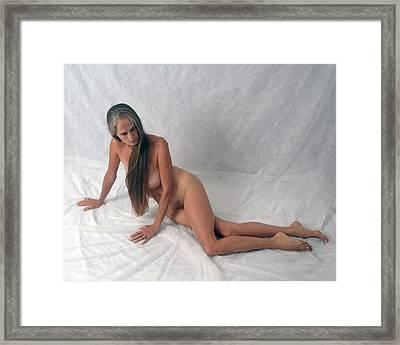 Figure Model Framed Print by Nancy Taylor