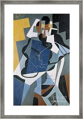 Figure Of A Woman Framed Print
