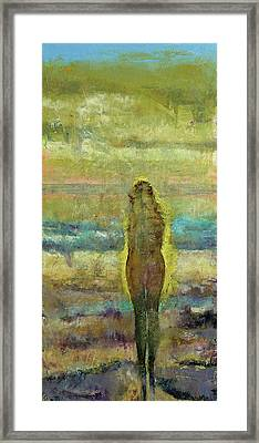 Figure On A Beach Framed Print by Michael Creese