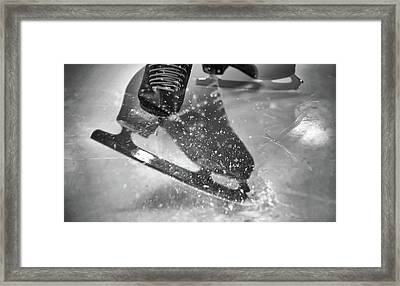 Figure Skating Abstract Framed Print by Rona Black