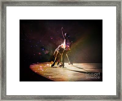 Figure Skating At The Calgary Stampede Framed Print