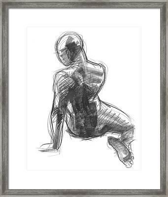 Figure Study Of The Back Framed Print