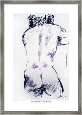 Figure Study One Framed Print by Scott Wallin
