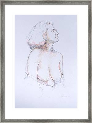 Figure Study Profile 1 Framed Print