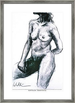 Figure Study Two Framed Print by Scott Wallin