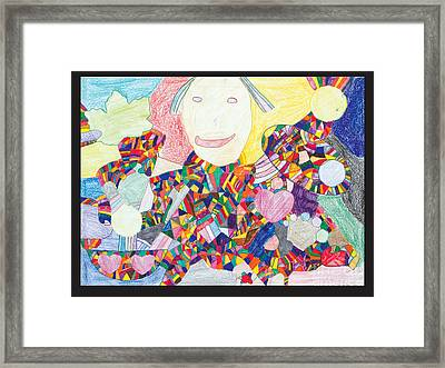 Figure With Mosaic Framed Print by Ross Bromley