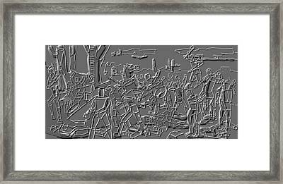 Figures In Battle Framed Print