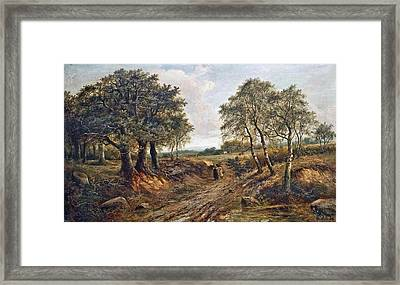 Figures On A Track Framed Print