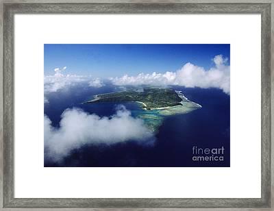 Fiji Aerial Framed Print by Larry Dale Gordon - Printscapes