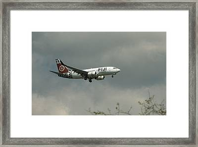 Fiji Airways Inbound Framed Print