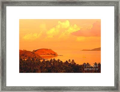 Fiji Mana Island Framed Print by Dave Fleetham - Printscapes