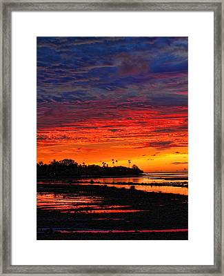 Fiji Sunrise Framed Print