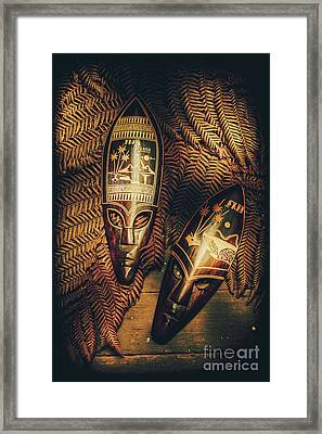 Fijian Tiki Tribal Masks Framed Print by Jorgo Photography - Wall Art Gallery