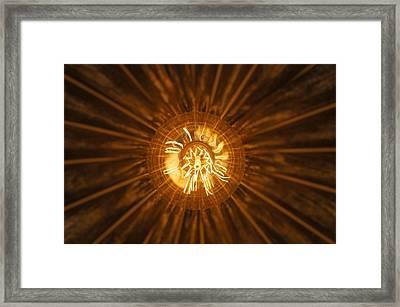Filament Framed Print by Christian Trajkovski
