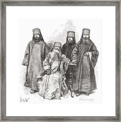 Filaret Drozdov And His Three Sons Framed Print
