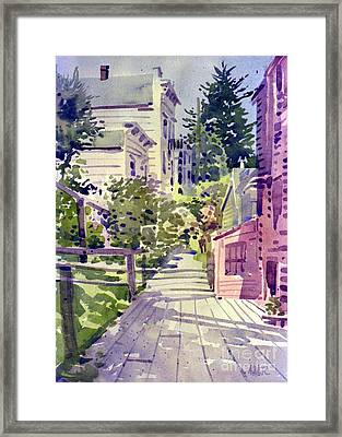 Filbert Street Stairs Framed Print by Donald Maier