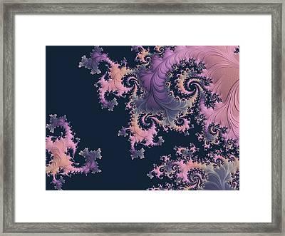 Filigree In Pastels Framed Print by Susan Maxwell Schmidt