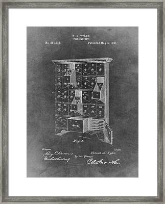 Filing Cabinet Patent Framed Print by Dan Sproul