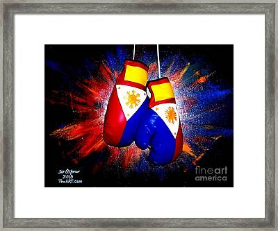Filipino Boxer - Boxing From The Philippines Framed Print by Teo Alfonso