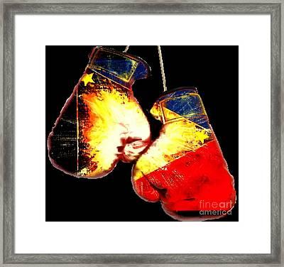 Filipino Boxer Framed Print by Teo Alfonso
