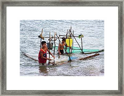 Filipino Fishing Framed Print by James BO  Insogna