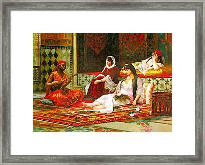 Filippo Baratti In The Harem Framed Print