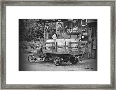 Fill Er Up          B And W Framed Print by Ansel Price
