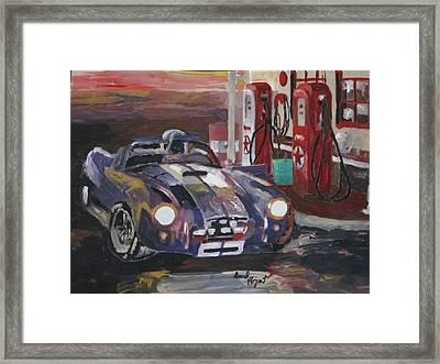 Fill Er Up Framed Print by David Poyant Paintings